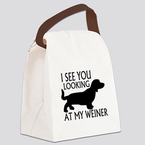 Looking At My Weiner Canvas Lunch Bag